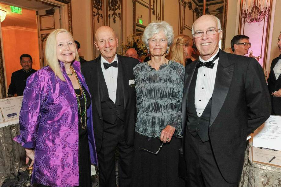 Bernice Lindstrom, Tom Morton, Anne Morton and David Hugle at A Night in New Orleans, a benefit gala for the Merola Opera Program, which took place on April 12, 2014. Photo: Drew Altizer Photography/SFWIRE, Drew Altizer Photography / ©2014 Drew Altizer Photography