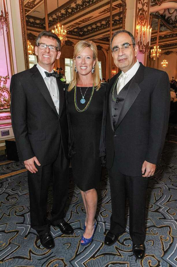 Mike Knych, Rhonda Mahendroo and Vinod Mahendroo at A Night in New Orleans, a benefit gala for the Merola Opera Program, which took place on April 12, 2014. Photo: Drew Altizer Photography/SFWIRE, Drew Altizer Photography / ©2014 Drew Altizer Photography