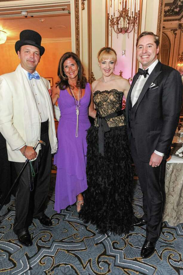 Guillaume Orliac, Linda Zider, Liza Gustafson and Brian Gustafson at A Night in New Orleans, a benefit gala for the Merola Opera Program, which took place on April 12, 2014. Photo: Drew Altizer Photography/SFWIRE, Drew Altizer Photography / ©2014 Drew Altizer Photography