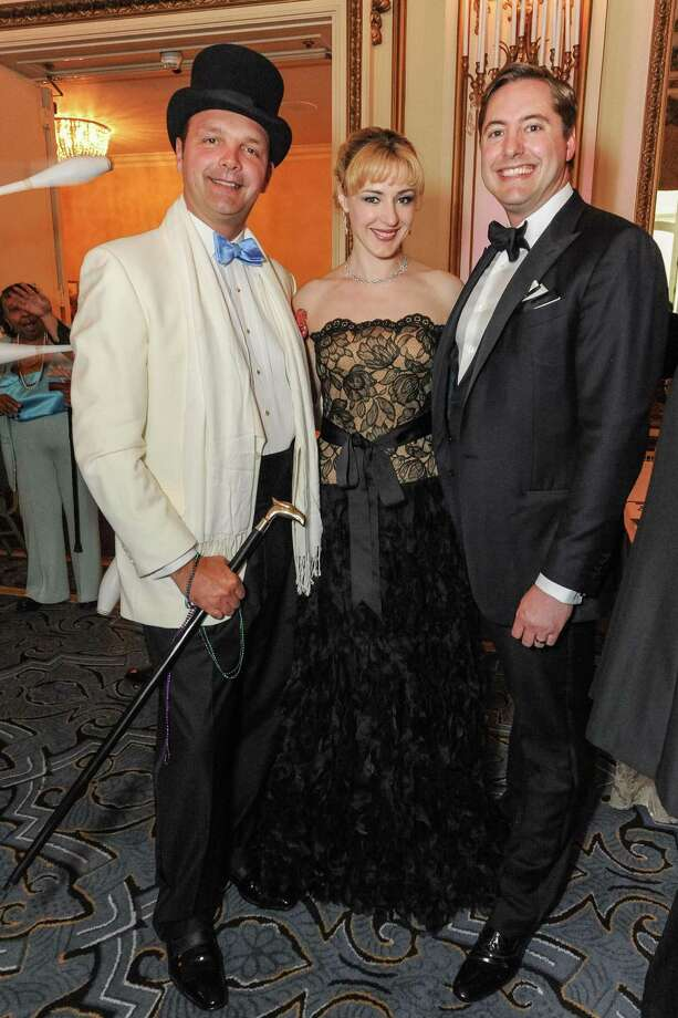 Guillaume Orliac, Liza Gustafson and Brian Gustafson at A Night in New Orleans, a benefit gala for the Merola Opera Program, which took place on April 12, 2014. Photo: Drew Altizer Photography/SFWIRE, Drew Altizer Photography / ©2014 Drew Altizer Photography