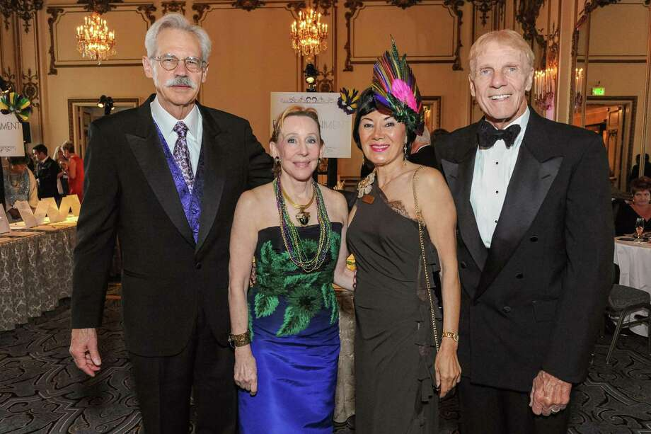 Karl Lindberg, Pamela Rigg, Nafiseh Lindberg and Richard Rigg at A Night in New Orleans, a benefit gala for the Merola Opera Program, which took place on April 12, 2014. Photo: Drew Altizer Photography/SFWIRE, Drew Altizer Photography / ©2014 Drew Altizer Photography
