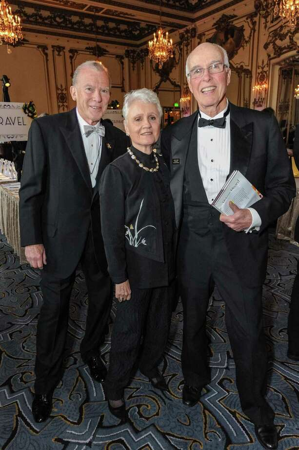 Nordin Blacker, Julia Geist and David Hugle at A Night in New Orleans, a benefit gala for the Merola Opera Program, which took place on April 12, 2014. Photo: Drew Altizer Photography/SFWIRE, Drew Altizer Photography / ©2014 Drew Altizer Photography