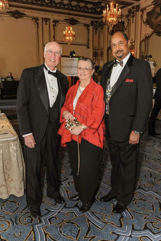 David Hugle, Donna Blacker and Conrad Sweeting at A Night in New Orleans, a benefit gala for the Merola Opera Program, which took place on April 12, 2014. Photo: Drew Altizer Photography/SFWIRE, Drew Altizer Photography / ©2014 Drew Altizer Photography