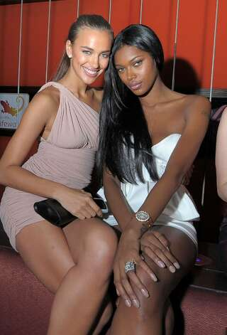 LAS VEGAS - FEBRUARY 10:  ***EXCLUSIVE***  Sports Illustrated swimsuit models Irina Shayk and Jessica White attend the Sports Illustrated Swimsuit 24/7: SI Swimsuit On Location at Jet Nightclub at The Mirage on February 10, 2010 in Las Vegas, Nevada.  (Photo by Michael Loccisano/Getty Images for Sports Illustrated) *** Local Caption *** Irina Shayk;Jessica White Photo: Michael Loccisano, Getty Images For Sports Illustra / 2010 Getty Images