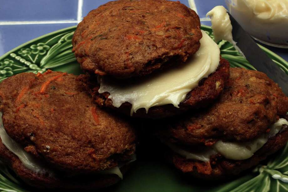 Carrot Cake Whoopie Pies with Maple Cream Cheese Frosting. Photo: Billy Smith II, Staff / © 2014 Houston Chronicle