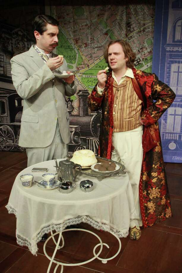 "John Johnston, left, as Jack, and Matthew Keenan as Algernon, star in Classical Theatre Company's production of Oscar Wilde's classic comedy of manners, ""The Importance of Being Earnest."" Photo: Gary Fountain, Freelance / Copyright 2014 by Gary Fountain"