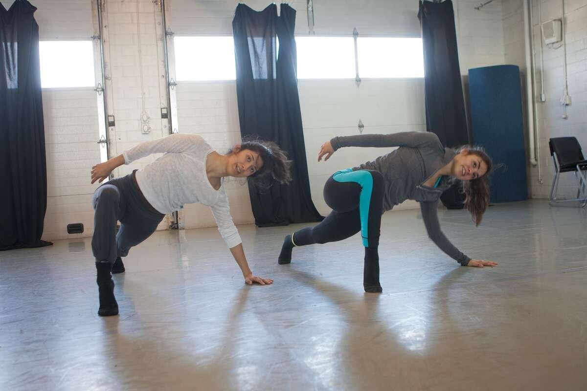 "Laura Gutierrez, left, and Danielle Gonzaga work on a new routine at Dance Source Houston's ""the Barn,"" 2201 Preston."