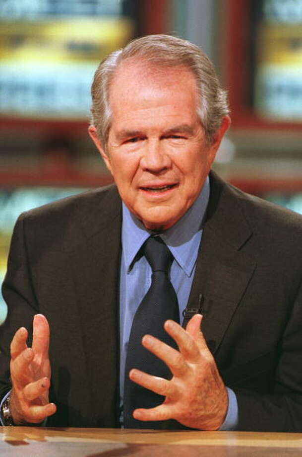 "Christian Coalition President Pat Robertson appears on NBC's ""Meet the Press"" May 7, 2000 in Washington, DC. Photo: Michael Smith, Getty Images / 2003 Getty Images"