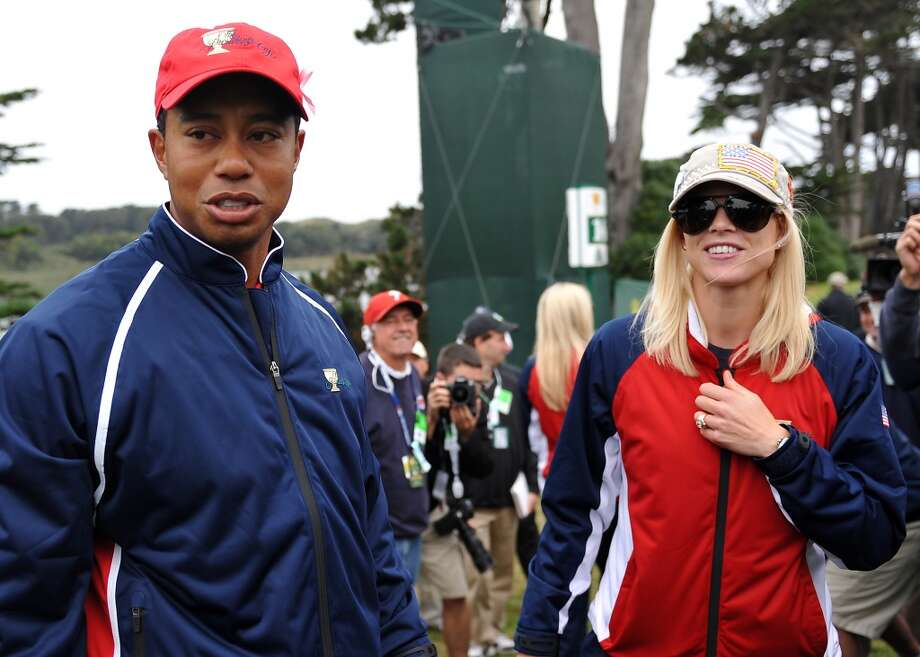 Tiger Woods (seen with ex-wife Elin Nordegren) famously was exposed for carrying on multiple affairs, one-night-stands, hookups etc. in 2009 by The National Enquirer. More than a dozen women admitted to affairs with Woods. His marriage ended in 2010. Photo: ROBYN BECK, AFP/Getty Images