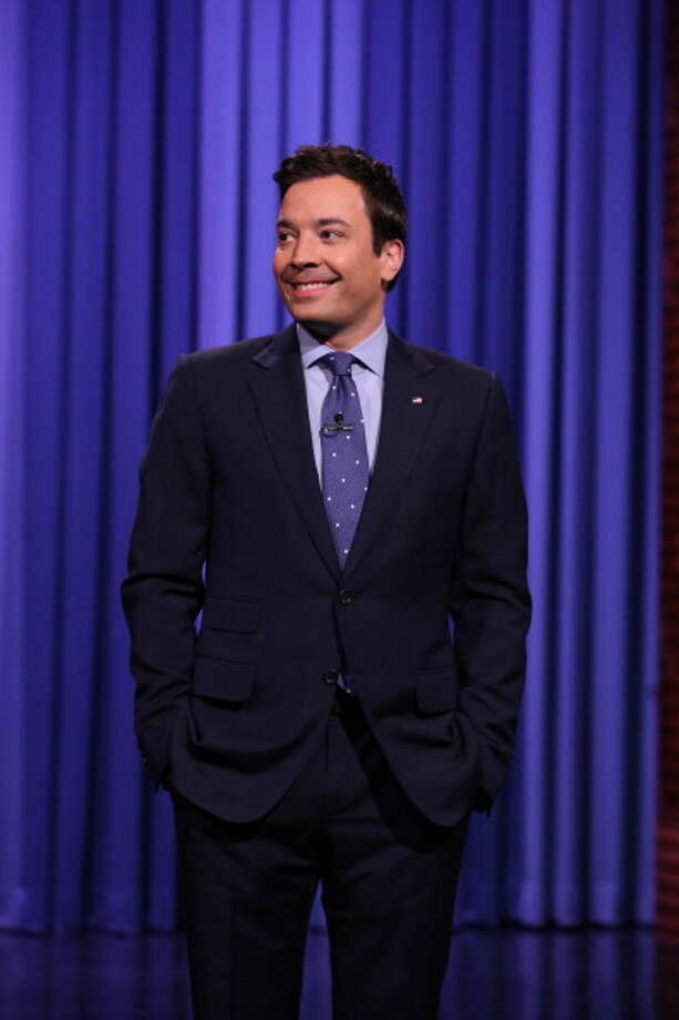 Jimmy Fallon on April 10, 2014. Photo: NBC, NBCU Photo Bank Via Getty Images / 2014 NBCUniversal Media, LLC