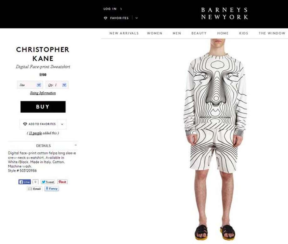"It's time to ""face"" the facts that this face-print sweatshirt is a fashion faux-pas."