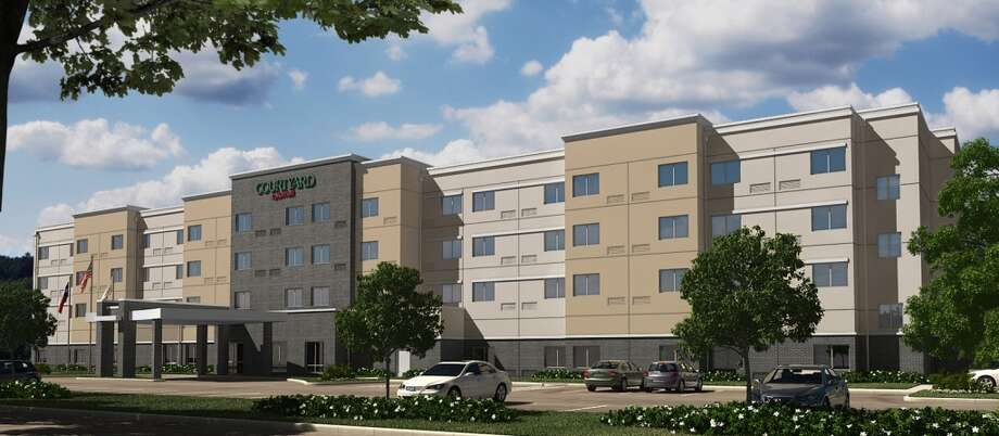 A rendering of a new west Houston Courtyard by Marriott planned at Ten Oaks Photo: Wolff Cos.