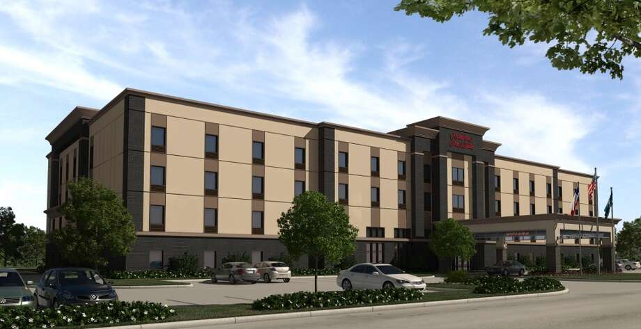 A rendering of a new Hampton Inn planned at Ten Oaks Photo: Wolff Cos.