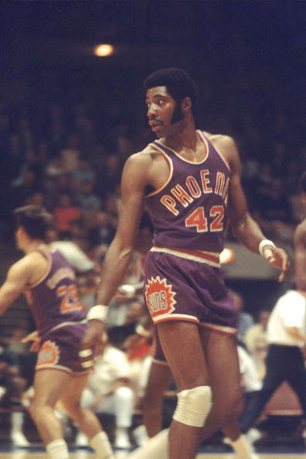 Connie Hawkins Position: Forward Teams: Pittsburgh Pipers, Minnesota Pipers, Phoenix Suns, Los Angeles Lakers, Atlanta Hawks Career: 1967-1976