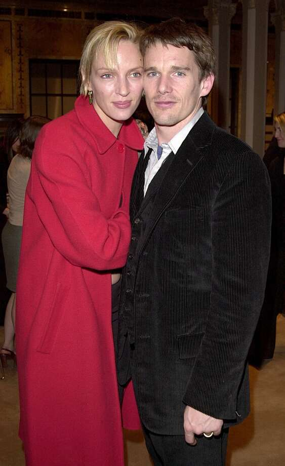 Ethan Hawke and Uma Thurman were married from 1998-2003. Hawke then married his children's nanny, Ryan Shawhughes in 2008 who he was rumored to be having an affair with during his marriage to Thurman. Photo: Djamilla Rosa Cochran, WireImage