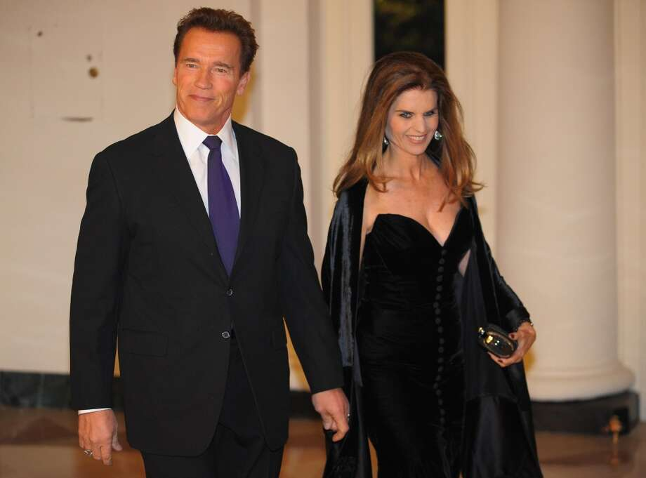 Arnold Schwarzenegger (seen here with wife Maria Shriver) was revealed to have had a long-term affair with his family's housekeeper, Patty Baena, and to have fathered a son with her. He and Shriver are currently separated. Photo: MANDEL NGAN, AFP/Getty Images