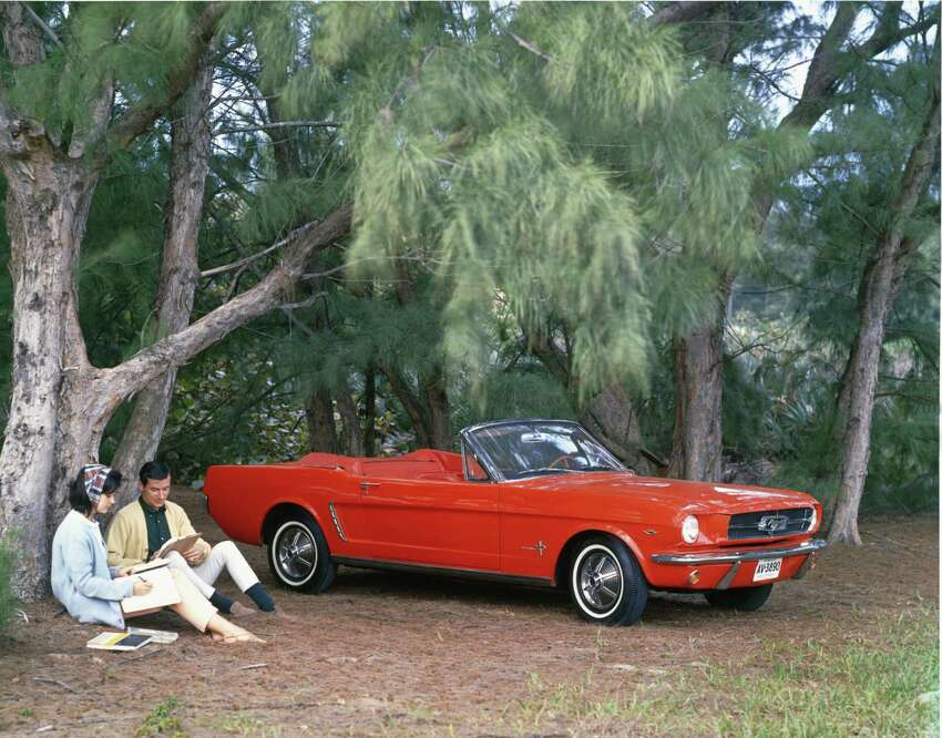 On April 17, 1964, the production Ford Mustang debuted at the New York World's Fair on its way to more than 400,000 sales in the first year and 1 million in the first 20 months.