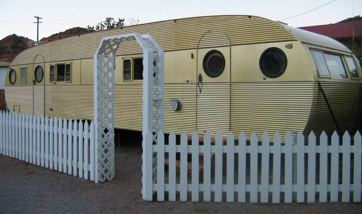 RV and mobile home park living is nothing new. This Airfloat Flagship model at the Shady Dell RV Park in Bisbee, Ariz., dates to 1957.