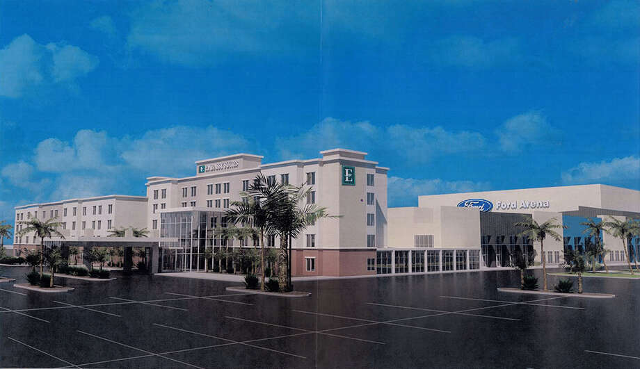An artist-rendering of a proposed Embassy Suites that could open at Ford Park in 2016. Illustration provided by Fred Jackson
