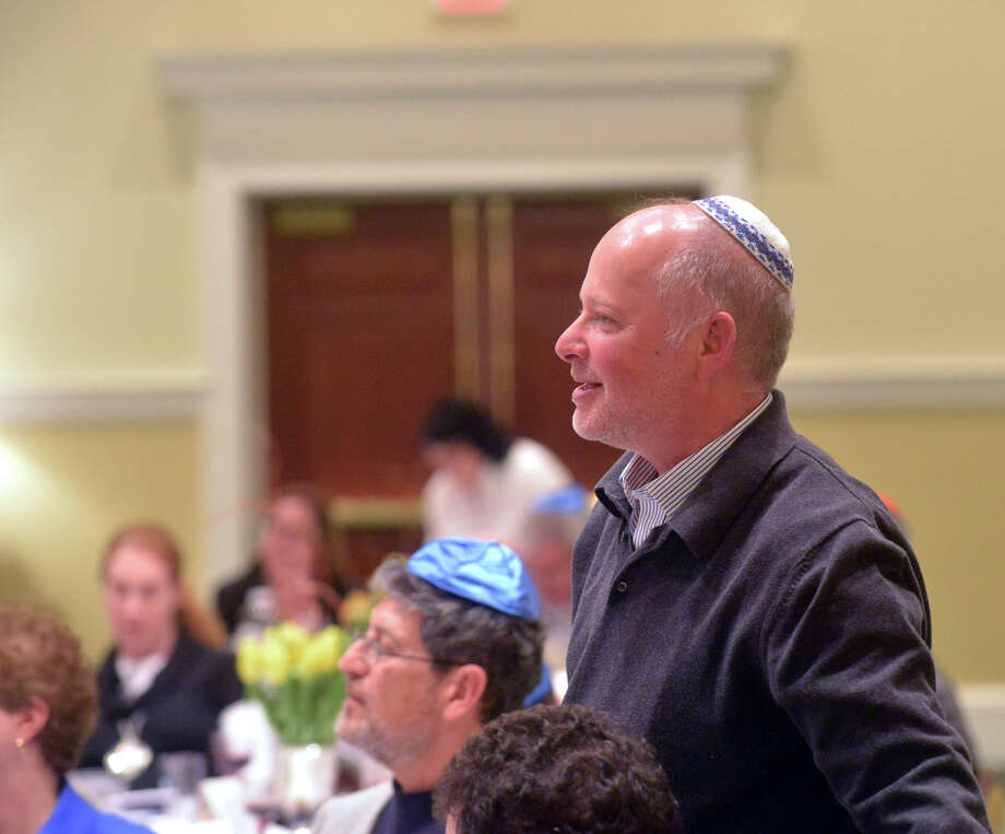 Dahni Nisinzweig of Greenwich during the Congregation Shir Ami second-night Seder celebrating Passover at the First Presbyterian Church in Greenwich, Tuesday, April 15, 2014. Photo: Bob Luckey / Greenwich Time