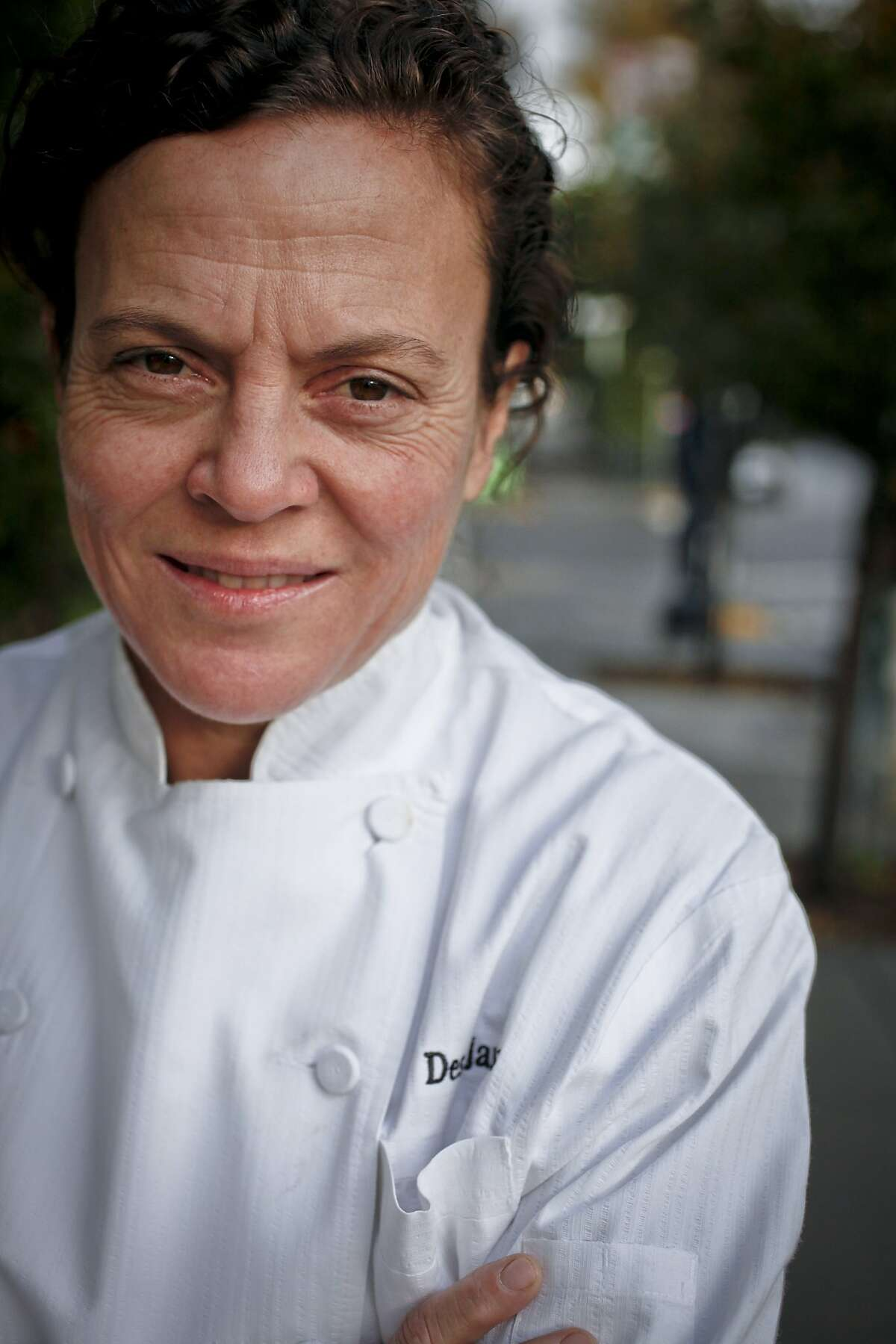 Chef Traci Des Jardins of Jardinere, seen on Thursday, Dec. 15, 2011 in San Francisco's Hayes Valley worked with five ingredients to come up with a holiday dinner recipe.