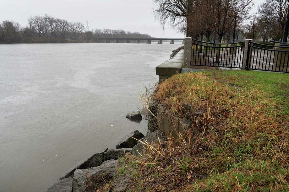 The Mohawk River is high but still within its banks at the end of N. Ferry Street Tuesday April 15, 2014, in Schenectady, NY.   (John Carl D'Annibale / Times Union) Photo: John Carl D'Annibale