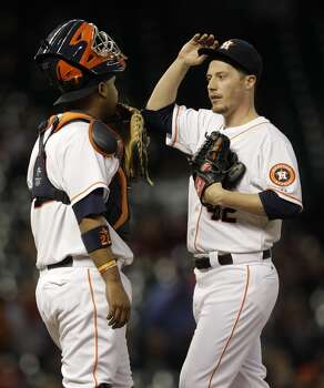 April 15: Royals 4, Astros 2  Lucas Harrell gave up all four runs in the first four innings and the Astros couldn't get anything going at the plate against Yordano Ventura.  Record: 5-9. Photo: Melissa Phillip, Houston Chronicle