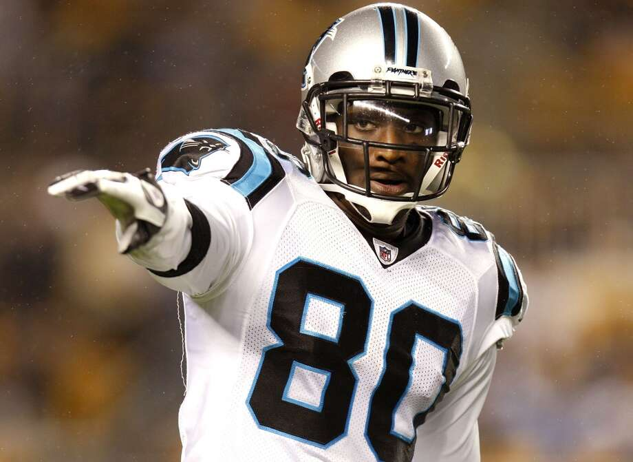 Carolina Panthers: 2 arrests  Receiver Dwayne Jarrett (pictured) was cut from the team the same day he was arrested in 2010 on suspicion of driving under the influence. In 2011, linebacker Lawrence Wilson was allegedly caught with pot after being pulled over for speeding. Photo: Gregory Shamus, Getty Images