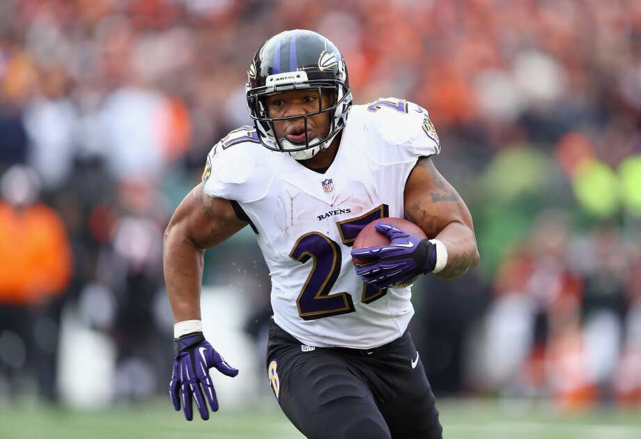 Baltimore Ravens: 5 arrests  Running back Ray Rice (pictured) was arrested in February 2014 after allegedly knocking out his wife at an Atlantic City casino. While she is also accused of hitting him, he is in hot legal trouble after being videotaped trying to drag his unconscious wife out of an elevator. Photo: Andy Lyons, Getty Images