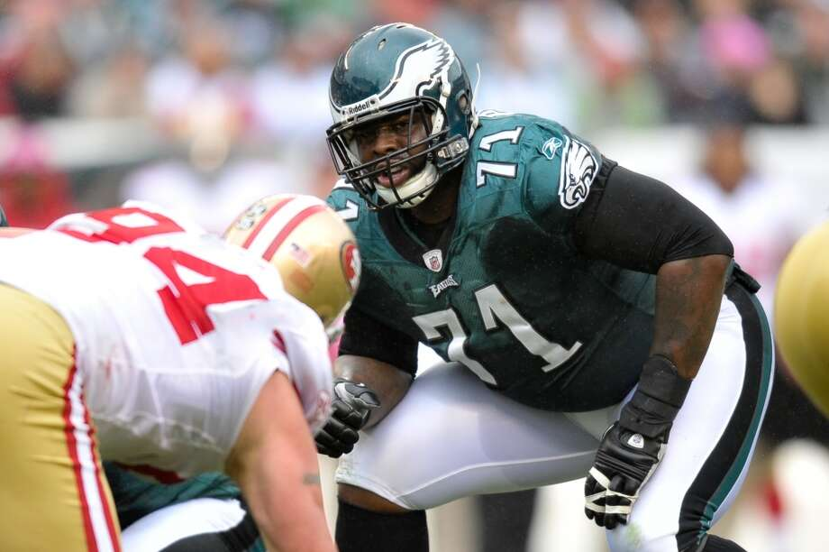 Philadelphia Eagles:5 arrests  Offensive tackle Jason Peters (pictured) has been arrested twice since 2010. First he was accused of disturbing the peace in Shreveport, La., by playing music too loudly. Then in June 2013, he was arrested again after allegedly drag racing and resisting arrest in Monroe, La. Photo: Drew Hallowell, Getty Images