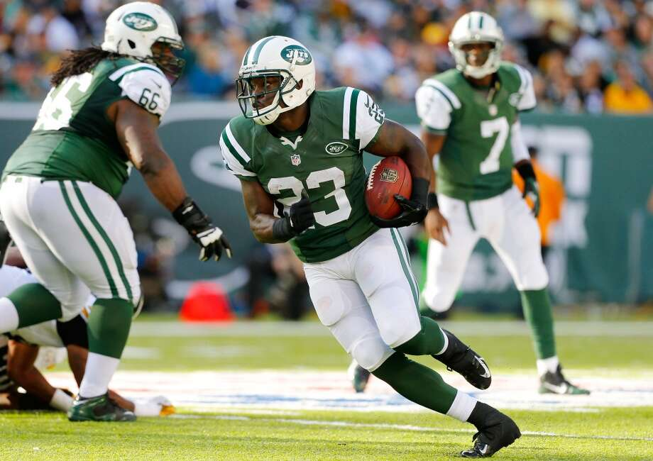 New York Jets: 6 arrestsRunning back Mike Goodson (pictured) was arrested in May 2013 after he and another man were found in a car stopped on Interstate 80 in New Jersey. Goodson allegedly had an illegal gun and hollow-point bullets, in addition to being in possession of marijuana. Photo: Jim McIsaac, Getty Images