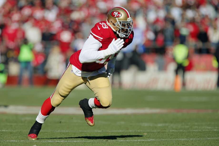 San Francisco 49ers: 10 arrests  Of the 49ers' 10 player arrests since 2010, four of them were linebacker Aldon Smith (pictured). He was accused of DUI in January 2012, then was arrested for the same after crashing his truck in San Jose, Calif., in September 2013. A month later, Smith was charged with three felony counts of illegal possession of an assault weapon. And this past weekend -- on April 13, 2014 -- police arrested Smith at LAX airport after he allegedly said something about a bomb. Photo: Brian Bahr, Getty Images