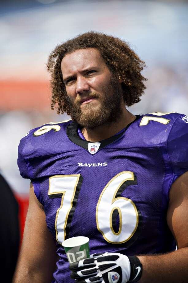 The Texans plan to sign former Ravens offensive lineman Jah Reid. Photo: Wesley Hitt, Getty Images