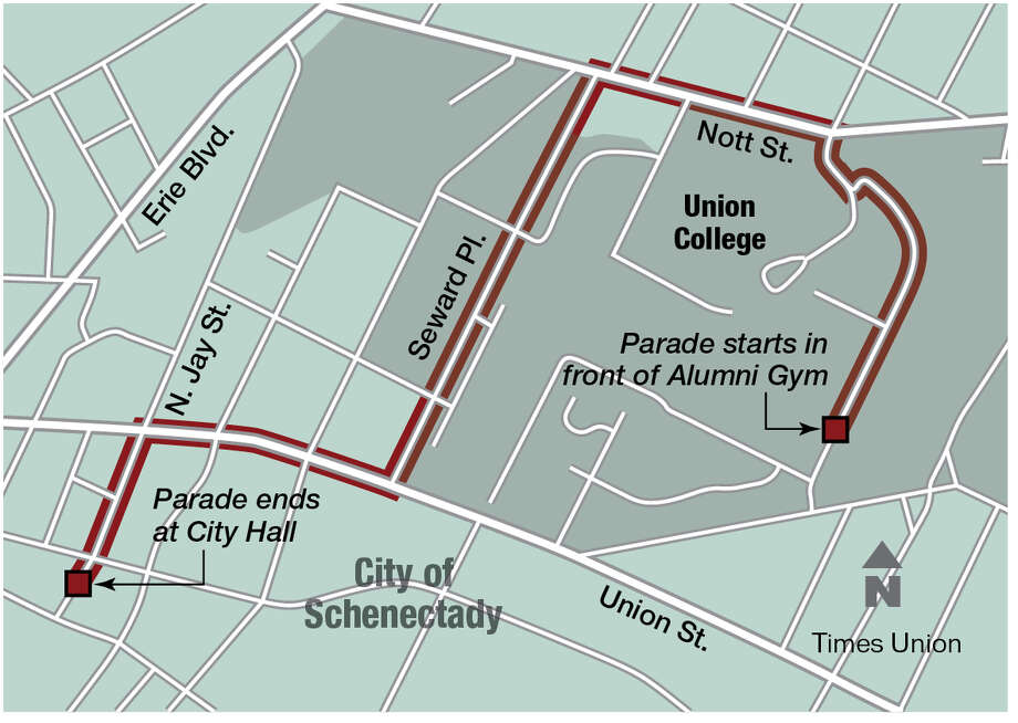Union parade route.
