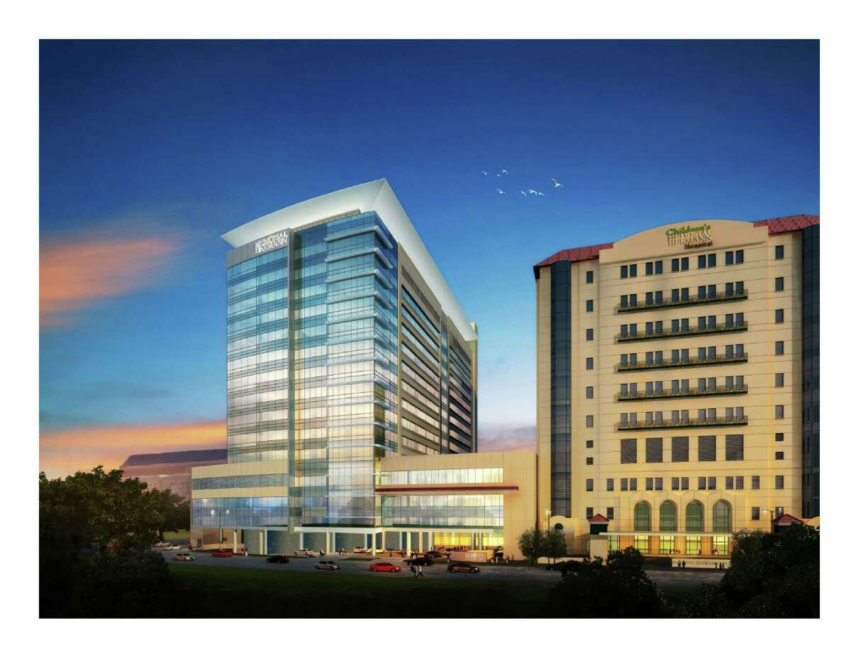 Rendering of Memorial Hermann's hospital in the Texas Medical Center following a planned $650 million renovation announced in April 2014.
