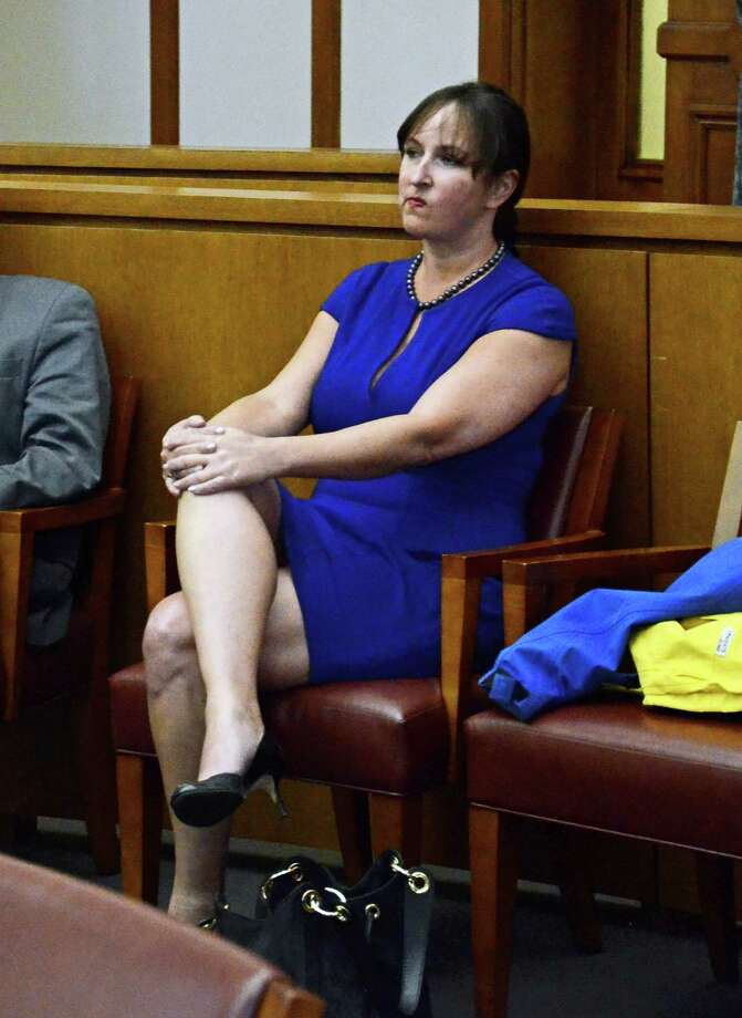 New Canaan resident Teri Buhl at the Connecticut Appelate Court in Hartford on Tuesday, April 15, 2014. Buhl is appealing the verdict that found her guilty last April of second-degree harassment and second-degree breach of peace. Photo: Nelson Oliveira / New Canaan News