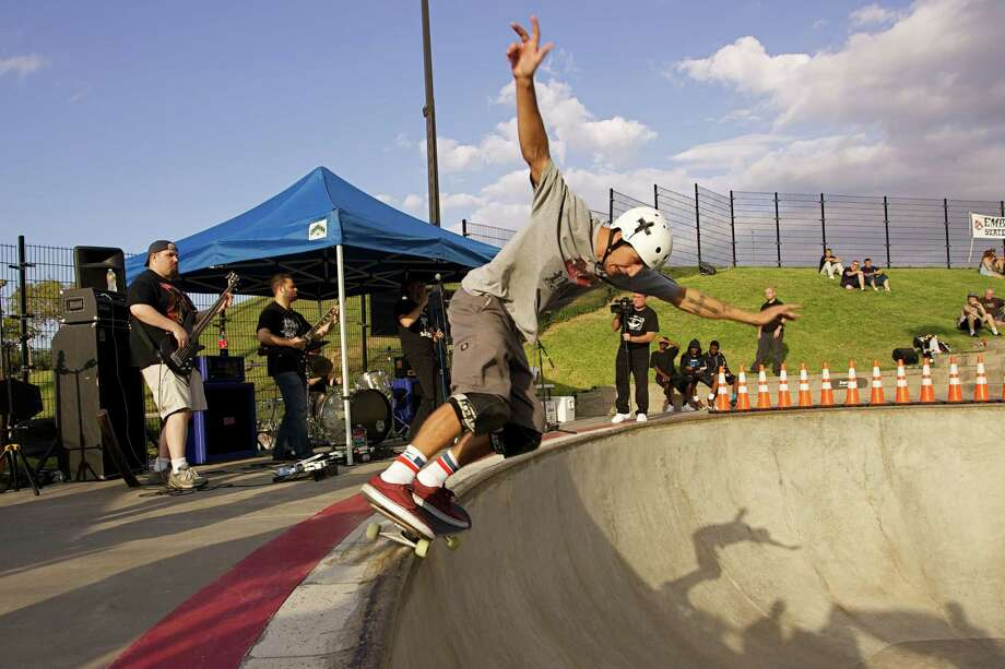 The annual SK8 & Rock concert series at Lee and Joe Jamail Skatepark kicks off with a Punk Rock Pool Party. The concert will be held next to the park's Drew's Bowl, which is swimming pool-shaped. The featured bands will include Biscuit Bombs, Screech of Death and Talk Sick Brats. Photo: Courtesy Photo / ONLINE_YES