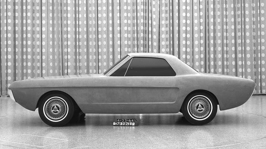 This 1964 clay model of a two-seat Mustang incorporates some of the design cues of the production 1965 car including the side scoops. Photo: Ford Motor Company