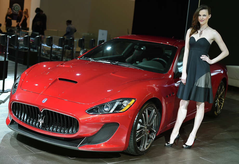 The Maserati GranTurismo on display during the first  press preview day at the 2014 New York International Auto Show April16, 2014 at the Jacob Javits Center in New York. The show opens to the public on April 18 and runs through the 27th. Photo: TIMOTHY A. CLARY, Wire / AFP
