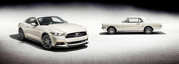 Take a look at the new 2015 50th Anniversary Ford Mustang and keep clicking to see how Mustangs have changed over the last 50 years. Photo: Ford Motor Company