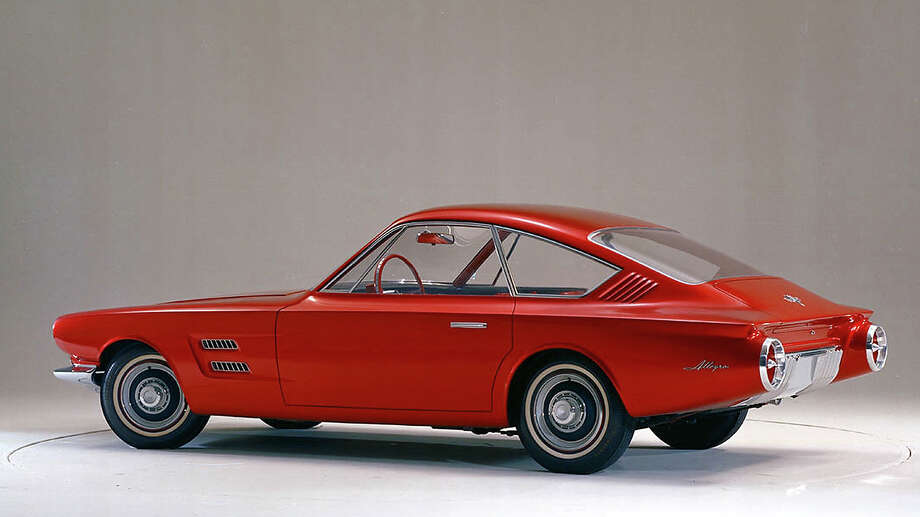 As Avventura moved from sketch to physical design model, the hatch was replaced with a trunk and the rear seat was switched to a more conventional forward-facing orientation.  Originally shown internally as Avanti, the name was eventually changed to Allegro, likely because Studebaker had introduced its own production Avanti coupe around the same time. Photo: Ford Motor Company