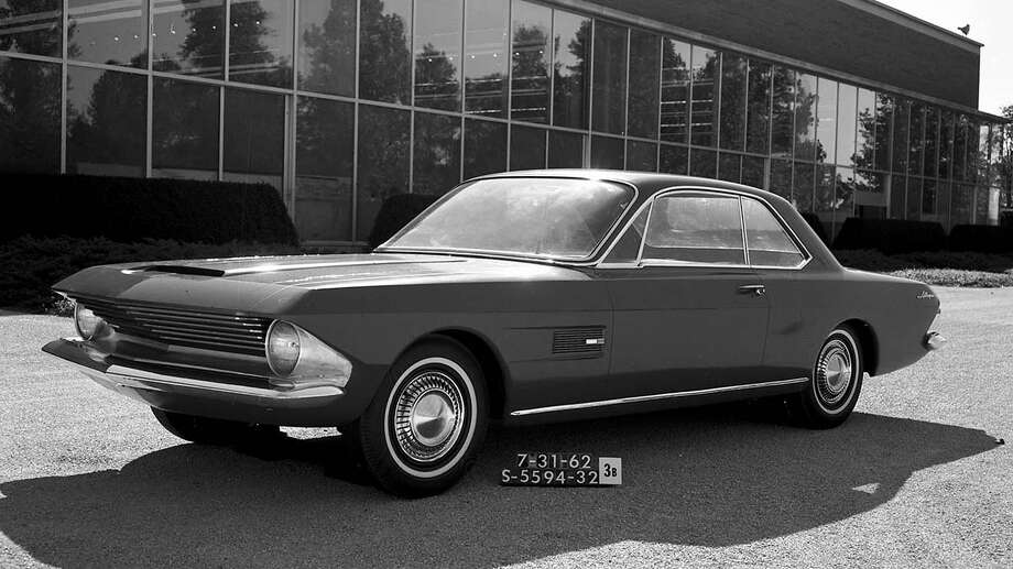 In 1962, the design team, led by Gene Bordinat, worked on several iterations of another design called Allegro. While the production 1965 Mustang was a very different car in almost every visual detail from Allegro, the design study established the basic proportions that would define most Mustangs for the next five decades. The notchback coupe had the same long-hood, short-deck layout with a compact greenhouse that would roll out of the Rouge factory two years later. Photo: Ford Motor Company