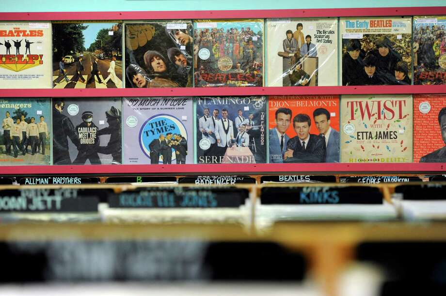 Gerosa Records in Brookfield, Conn., has an extensive collection of record albums for sale. The store will be among many Independent record stores celebrating Record Store Day on Saturday, April 19, 2014. Photo: Carol Kaliff / The News-Times