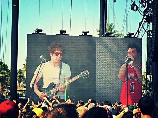 "Bridgeport musician Jeff Gitelman performed with Chance The Rapper at the Coachella Valley Annual Music and Arts Festival on Sunday, April 13. Justin Bieber joined Chance and Gitelman on stage for a performance of his song, ""Confident."""