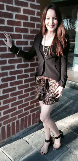 Beccah Hofer shows us how to dress up a blousy pair of cheetah print shorts: top them with a