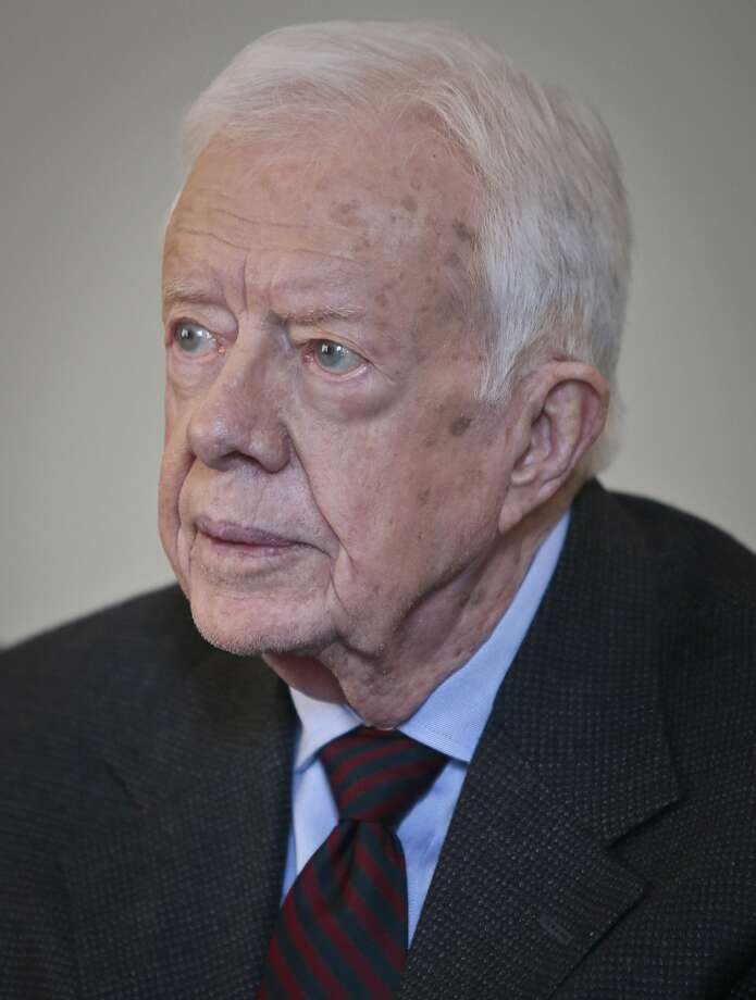 Jimmy Carter is the first ex-president to come out against the oil pipeline. Photo: Bebeto Matthews, Associated Press