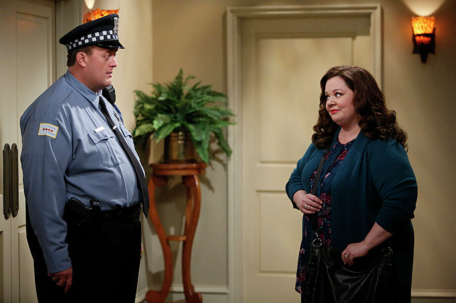 Molly has to decide whether to go to an 8-week writers' program or stay with Mike in 'Mike & Molly's' season finale.  Monday, May 19th at 8 p.m. on CBS. Photo: Cliff Lipson, ©2014 CBS Broadcasting, Inc. All Rights Reserved / Ã?©2014 CBS Broadcasting, Inc. All Rights Reserved