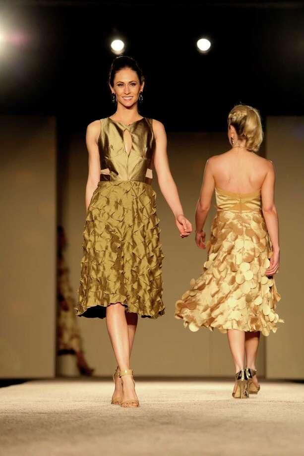 Designs by Allison Speakmon are shown during the Cutting Edge Fashion Show on Wednesday April 16, 2014. Photo: Helen L. Montoya, San Antonio Express-News / ©2013 San Antonio Express-News