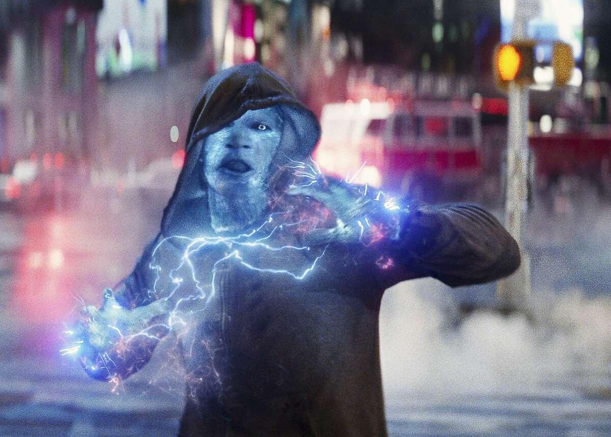 "Jamie Foxx as Electro in ""The Amazing Spider-Man 2"" Jamie Foxx as Electro in Columbia Pictures' ""The Amazing Spider-Man,"" starring Andrew Garfiled and Emma Stone."