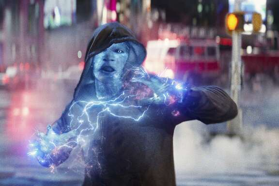 "Jamie Foxx as Electro in ""The Amazing Spider-Man 2""   Jamie Foxx as Electro in Columbia Pictures' ""The Amazing Spider-Man,"" starring Andrew Garfiled and Emma Stone."